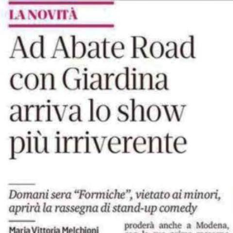 Inaugurazione di Sotto Sotto - Gazzetta di Modena 24/10/2019